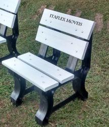Cadeira de Jardim 50 cm , com encosto, cor branco - 04 réguas