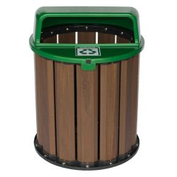 Lixeira Coleta Seletiva  67 litros, tampa Verde