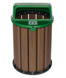 Lixeira Coleta Seletiva  94 litros, tampa Verde