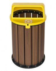 Lixeira Coleta Seletiva 94 litros , tampa Amarela
