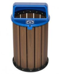 Lixeira Coleta Seletiva  94 litros, tampa azul