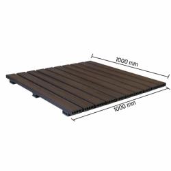 Deck Modular 100 x 100 cm texturizado